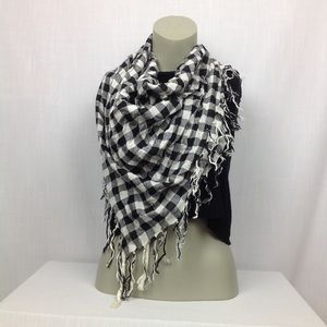Accessories - ADORABLE Bandana Scarf Plaid Black White Checkers